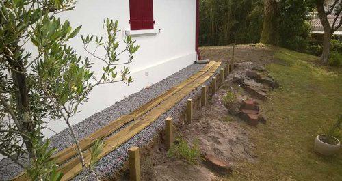 Création de jardin et berlinoises à Hossegor (Landes)
