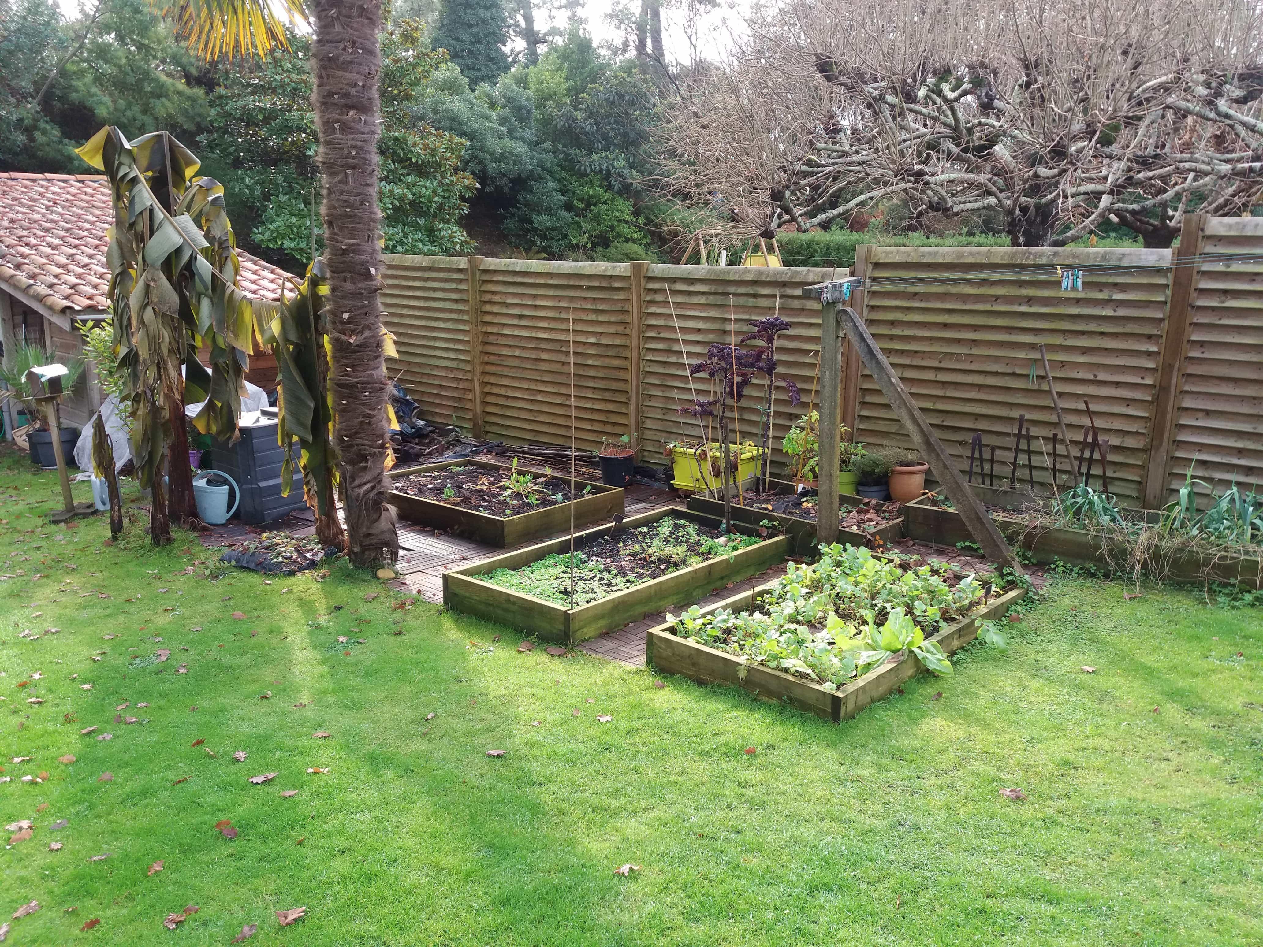 Cr ation bacs de culture pour potager en permaculture for Creation jardin potager